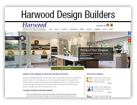 Harwood Design Builders website