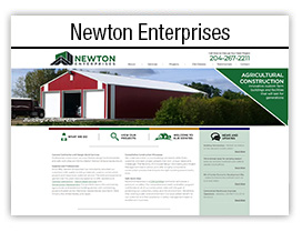 Newton Enterprises website