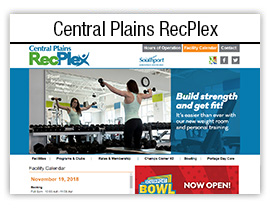 Central Plains RecPlex website